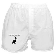 Personalized Black Pelican Silhouette Boxer Shorts