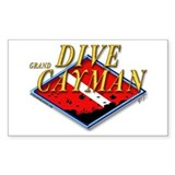 Dive Grand Cayman Rectangle Decal