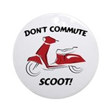 Don't Commute (Red) Ornament (Round)