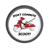 Don't Commute (Red) Wall Clock