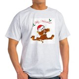 Cristmas Cat Ash Grey T-Shirt