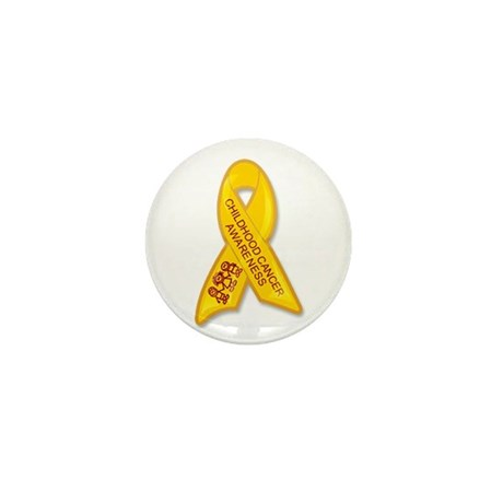 Childhood Cancer Ribbon Mini Button