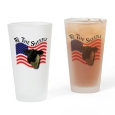 We the Sheeple Drinking Glass