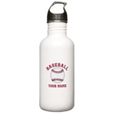 Personalized Name Baseball Sports Water Bottle