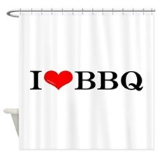 I love BBQ Shower Curtain