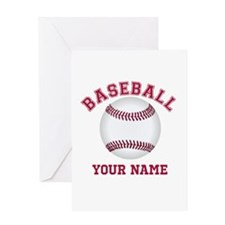 Personalized Name Baseball Greeting Card