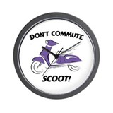 Don't Commute (Purple) Wall Clock