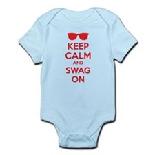 Keep calm and swag on Infant Bodysuit