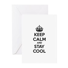 Keep calm and stay cool Greeting Cards (Pk of 10)