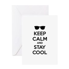 Keep calm and stay cool Greeting Card