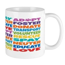 Adopt-Foster-Rescue2 Small Mugs