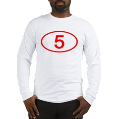 Number 5 Oval Long Sleeve T-Shirt