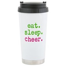 eat.sleep.cheer. Ceramic Travel Mug
