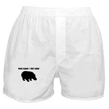 Personalized Black Hippo Silhouette Boxer Shorts