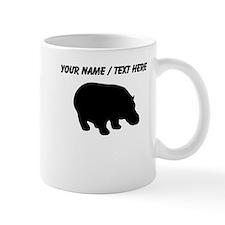 Personalized Black Hippo Silhouette Mug
