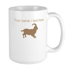 Personalized Brown Mountain Goat Silhouette Mug