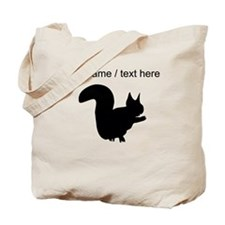Personalized Black Squirrel Silhouette Tote Bag