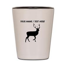 Personalized Black Elk Silhouette Shot Glass