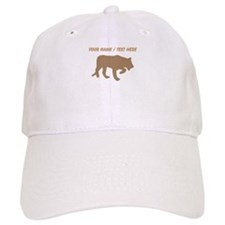 Personalized Brown Panther Silhouette Baseball Baseball Cap