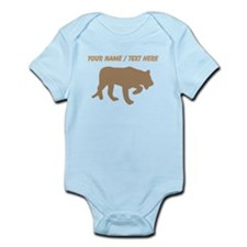 Personalized Brown Panther Silhouette Body Suit