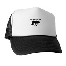 Personalized Black Panther Silhouette Trucker Hat