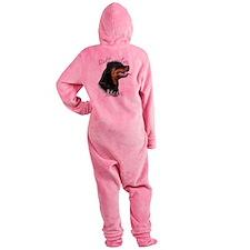 RottieMom.png Footed Pajamas