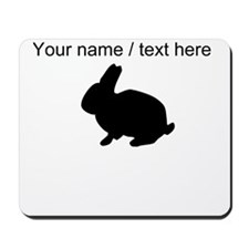 Personalized Black Bunny Silhouette Mousepad