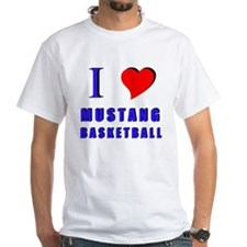 """I Love Mustang Basketball"" T-Shirt"
