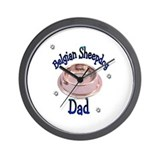 Belgian Sheepdog Dad Wall Clock