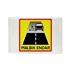End Of Tarred Road - Iceland Rectangle Magnet (10