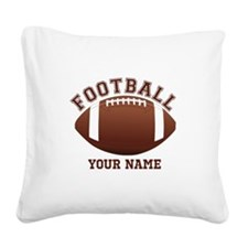 Personalized Name Footbal Square Canvas Pillow