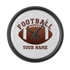 Personalized Name Footbal Large Wall Clock