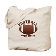 Personalized Name Footbal Tote Bag