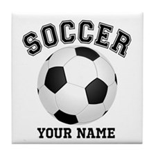 Personalized Name Soccer Tile Coaster