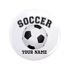 "Personalized Name Soccer 3.5"" Button"