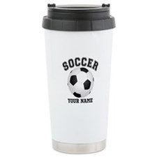 Personalized Name Soccer Travel Mug