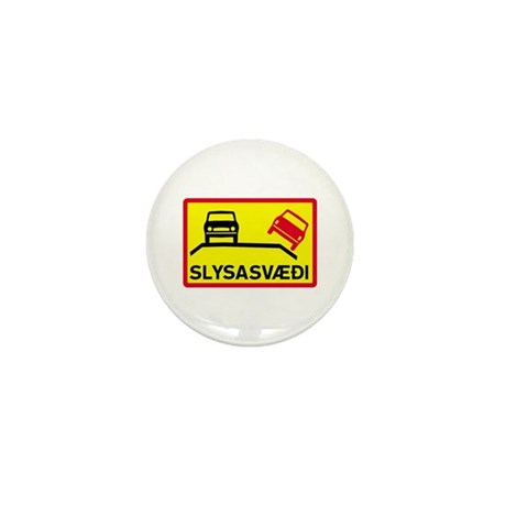 Accident Risk Area - Iceland Mini Button (10 pack)