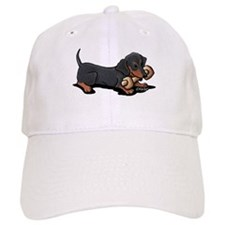 Doxie With Bone Baseball Cap