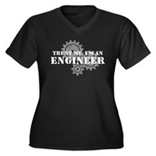 Trust Me I'm An Engineer Women's Plus Size V-Neck