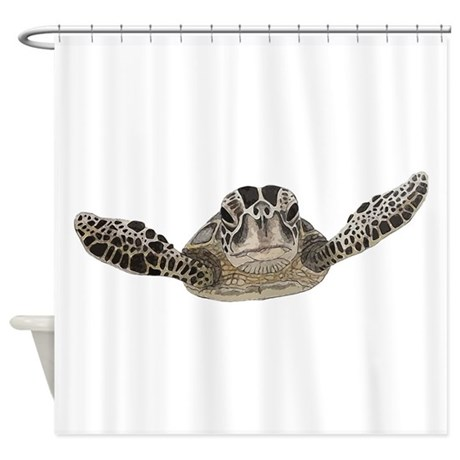 sea turtle shower curtain by saltern