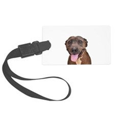 Cute Pit Bull Terrier Rescue Luggage Tag