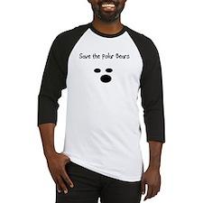 Save the polar bears Baseball Jersey