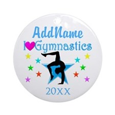 CHARMING GYMNAST Ornament (Round)