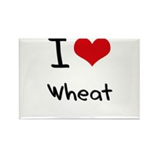 I love Wheat Rectangle Magnet