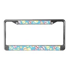 Jumble Of Sugar Skulls License Plate Frame