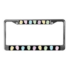 Colorful Sugar Skulls License Plate Frame