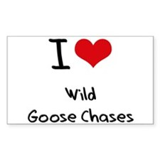 I love Wild Goose Chases Decal
