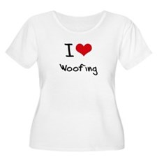I love Woofing Plus Size T-Shirt