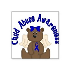 CHILD ABUSE AWARENESS WITH TEDDY BEAR Sticker
