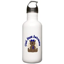 CHILD ABUSE AWARENESS WITH TEDDY BEAR Water Bottle